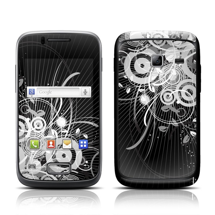 Radiosity design seen here on a Galaxy Y Duos Skin Kit with matching screen wallpaper graphic.
