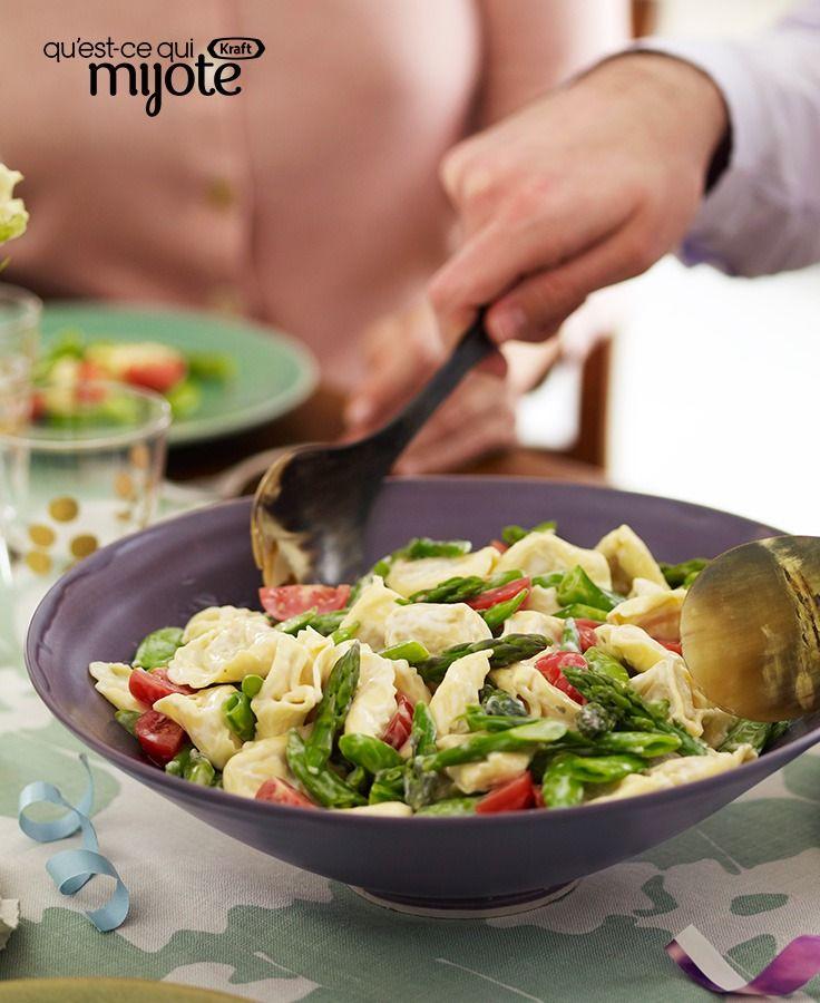 Salade de tortellinis primavera crémeuse #recette
