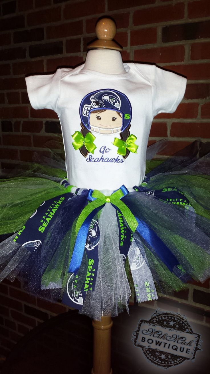 Football Girl shirt, Seahawks Inspired Outfit, Seahawks Girl TuTu outfit, Sports Fan, Girl Helmet, Seahawks, Cowboys, Seahawks Gift - pinned by pin4etsy.com