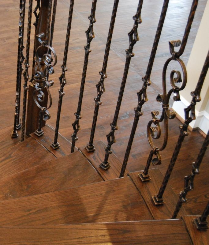 Wood Balusters Iron Balusters And Oil Rubbed Bronze On
