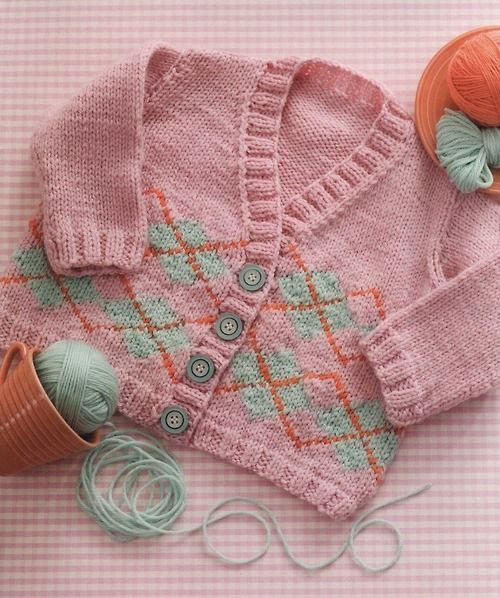 From the book: 60 More Quick Baby Knits in Superwash from Cascade Yarns. Newborn to ca 5 years