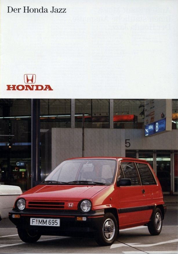 Honda Jazz Mk1 Germany Brochure 1984