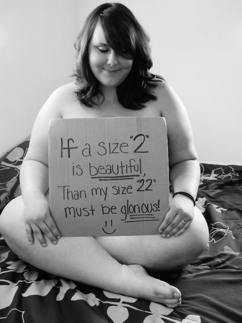 All sizes are beautiful. Size does not define us.