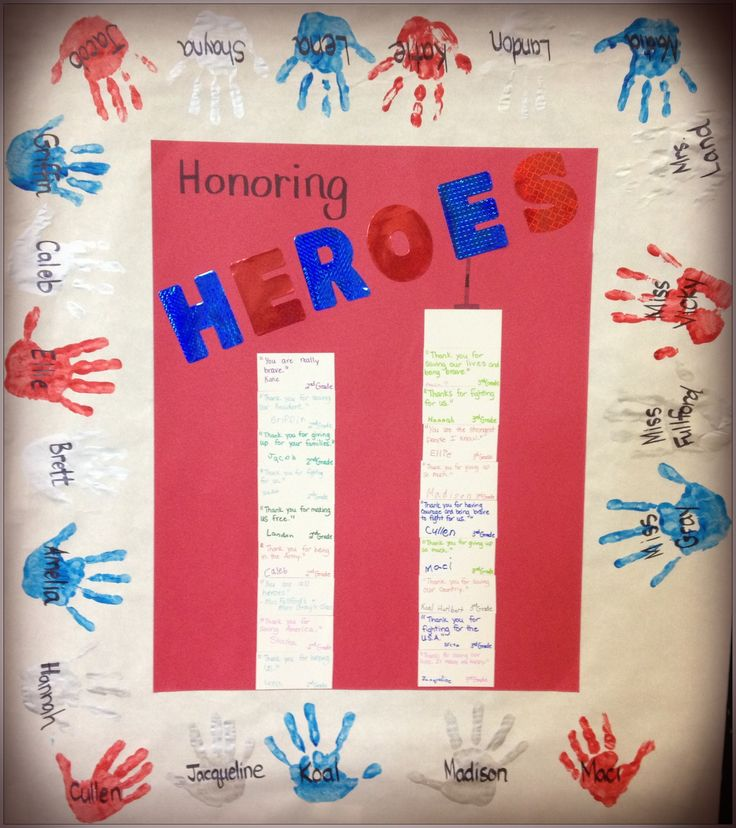 """Teaching kids about 9/11 is always difficult, yet extremely important. Here's how my class and the 2nd grade class at Canaan Schools are honoring the heroes this year. After learning about that tragic day, each student got a brick and wrote a special message to a soldier. We then """"rebuilt"""" the towers by sharing our thanks and caring thoughts. Tomorrow our poster is off in the mail to Afghanistan for the soldiers of the 237th MP company to enjoy."""