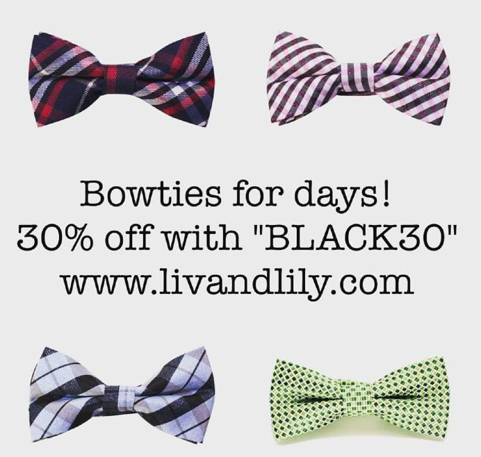 Save 30% off your order of $40 or more! #blackfridaysale #bowties #suspenders #fedoras #livandlily #kidsaccessories www.livandlily.com
