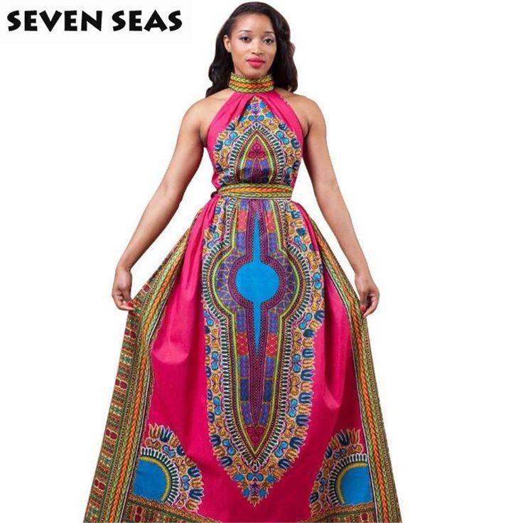 Traditionelle Afrikanische Kleidung Königlichen Totem Sleeveless Sexy Afrikanische Kleider für Frauen