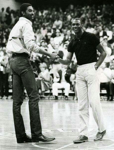 Ralph Sampson and Michael Jordan.
