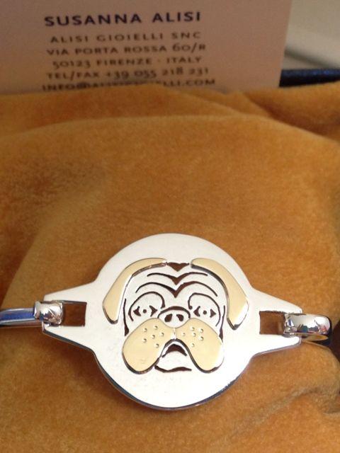 Per non separarci mai dal nostro speciale amico.... bracciale in argento con applicazioni in oro giallo! Disegno personalizzabile