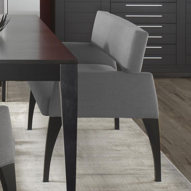 High Style - Custom Dining <b>Customizable</b> Upholstered Bench by Canadel