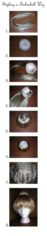 Tinkerbell Wig Tutorial by vampirate777.deviantart.com on @deviantART