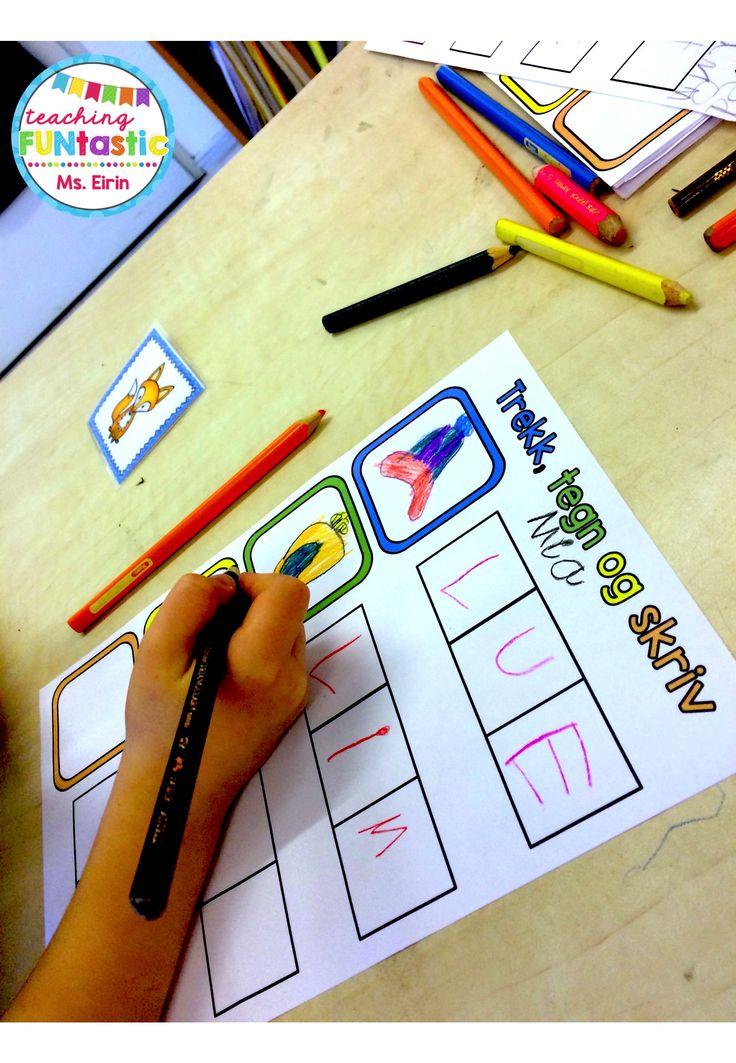 PY 1 - Uke 6: Vi øver på skriving av CVC ord for å repetere vokalene :)