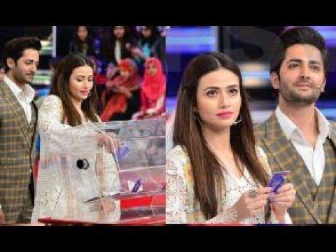 Watch Pakistani Dramas Online: Danish Taimoor and Sana Javed at Geo Khelo Pakista...