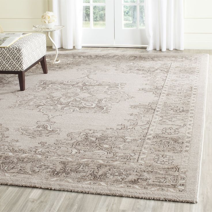 Safavieh's Carmel collection is inspired by timeless Transitional designs crafted with the softest cotton available. This rug is crafted using a powerloomed construction with a cotton pile and feature