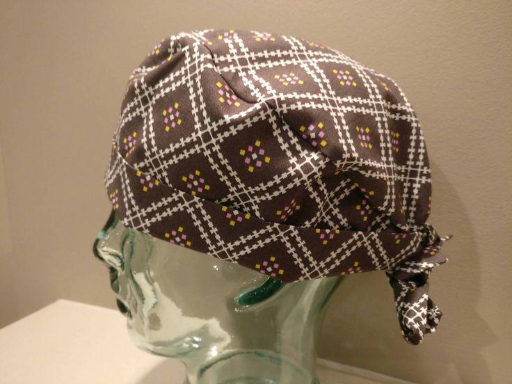Brown pixie surgical scrub hat, women's scrub hat, chemo hat, surgical scrub cap, tie back scrub hat, brown surgical hat, surgery cap by Beckslittletreasures on Etsy