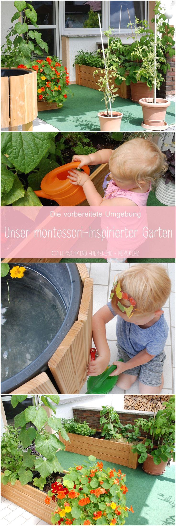 Zur vorbereiteten Umgebung gehört jeder Bereich im Haus. Maria Montessori erkannte auch die Gartenarbeit als einen wichtigen Lernteil für kleine Kinder an. Urban Gardening ist schon auf dem kleinsten Balkon oder Terrasse möglich und bietet Kindern viele wichtige Informationen über das Pflanzenwachstum, Natur und den natürlichen Kreislauf der Dinge.