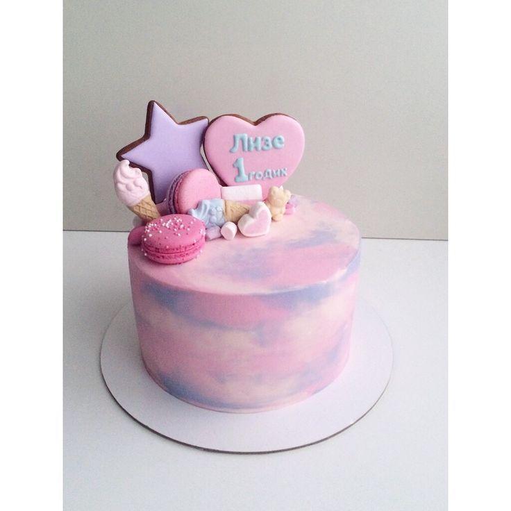 Картинки по запросу оригинальный торт на 1 год девочке