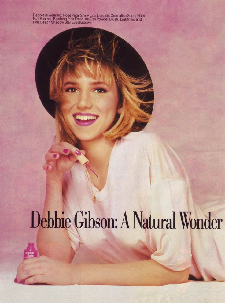 Debbie Gibson Natural Wonder Ad