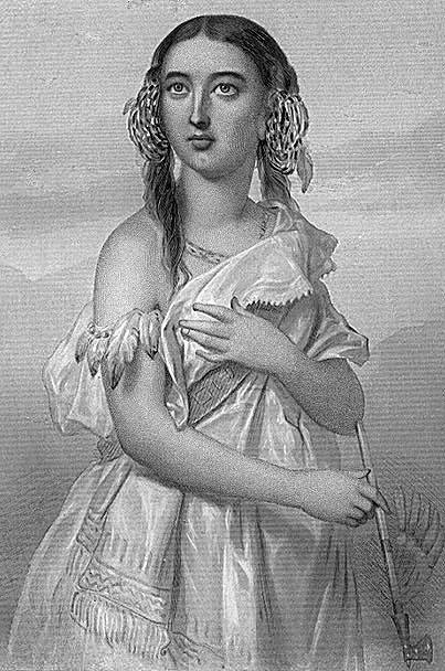 Pocahontas Pocahontasest uneAmérindiennede la confédération de tribusPowhatans, fille deWahunsunacock(aussi appeléChef Powhatan et qui régnait alors sur presque toutes les tribus de la régionTsenacommacah. Ses vrais prénoms étaientMatoakaetAmonute.Pocahontasétait un surnom d'enfance se rapportant à sa nature espiègle (dans la langue Powhatan,Pocahontassignifie «petite dévergondée»). On connaît peu de choses de l'enfance de Pocahontas.