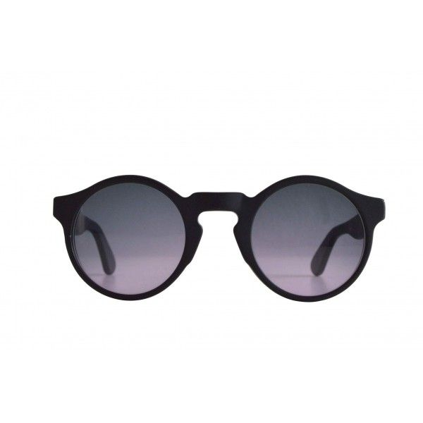 Indro Black Matte - Gradient Blue Violet Lens - TYG SPECTACLES