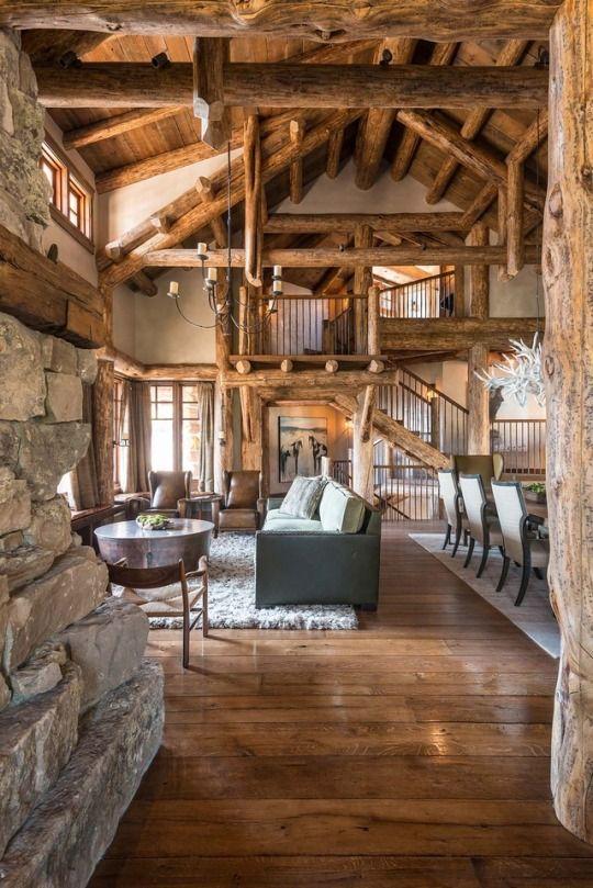 Die besten 25+ Berghütte dekor Ideen auf Pinterest Baum - wohnzimmer rustikal gestalten