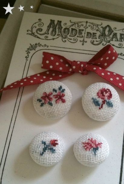 Fleur de DigoinButtons.  Repinned by www.mygrowingtraditions.com