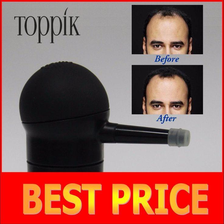 Toppik haar spray applicator haarpoeder pompen 10g, 12g, 25g, 27.5g, 30g zwarte kleur, met brand doos/pack in refill bag