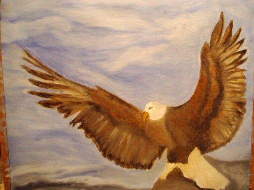 Ό  Αετός πεθαίνει στον αέρα  Ελεύθερος και δυνατός