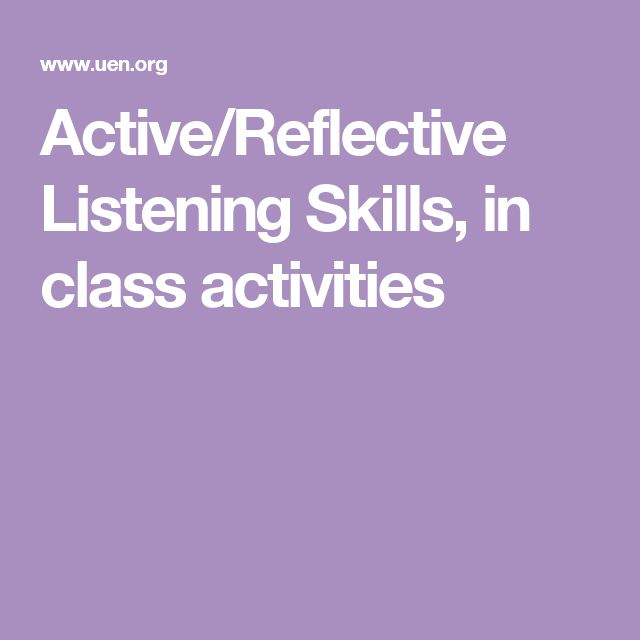 my listening skills reflection Reflection on listening and it is important for me to teach my pupils with the right methods and skills so that my why use reflective listening skills.