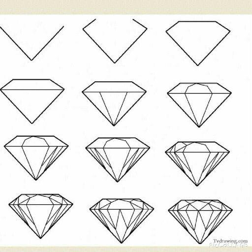 Рисуем бриллиант