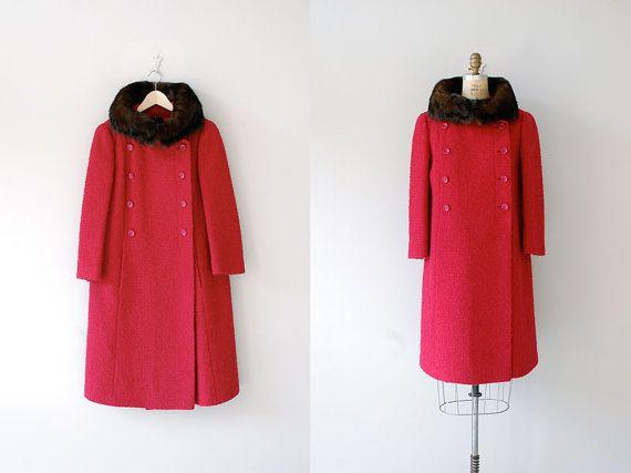 1960s coat / boucle wool coat / Ruby and Mink Coat by DearGolden, $120.00