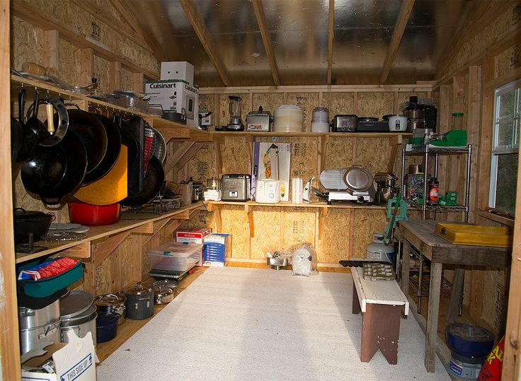 Man Cave Shed with Reloading Bench | ManCave | Pinterest ...