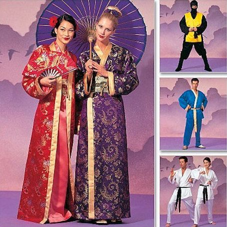KIMONO GEISHA KARATE Costume Sewing Pattern ~ Robe Tabard Ninja Martial Arts Uniform Costumes