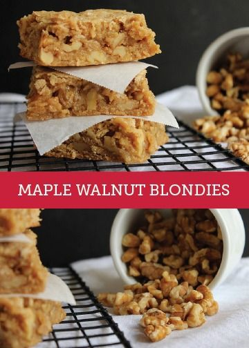 Maple Walnut Blondies are the perfect dessert recipe for all your ...