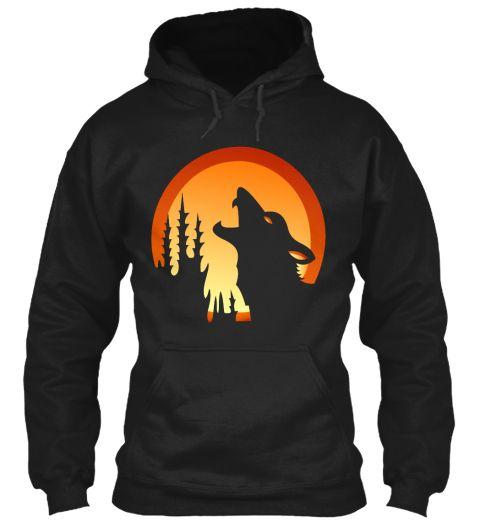 Wolves Black T-Shirt Front