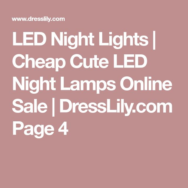 LED Night Lights | Cheap Cute LED Night Lamps Online Sale | DressLily.com Page 4
