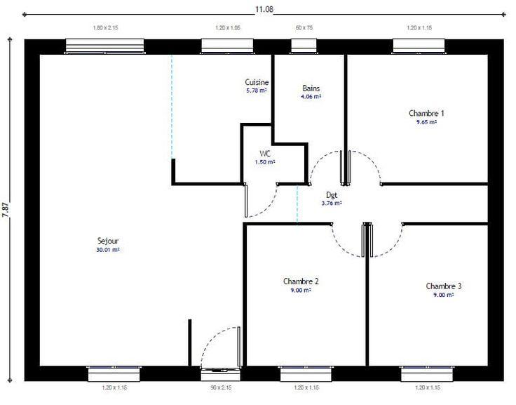 Très Les 25 meilleures idées de la catégorie Plan de maison gratuit sur  JT04