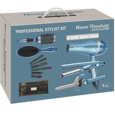 BaByliss Pro Nano Titanium Professional Stylist Kit - 6 Pcs #BABSTYLEKIT $125.95 Visit www.BarberSalon.com One stop shopping for Professional Barber Supplies, Salon Supplies, Hair & Wigs, Professional Products. GUARANTEE LOW PRICES!!! #barbersupply #barbersupplies #salonsupply #salonsupplies #beautysupply #beautysupplies #hair #wig #deal #promotion #sale #2016NovemberSale