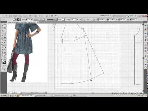 Model uygulamalı elbise kalıbı 14 /The model applied dress pattern 14 - YouTube