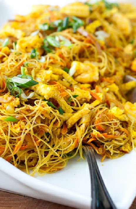 Low FODMAP and Gluten Free Recipe -  Singapore Style Noodles