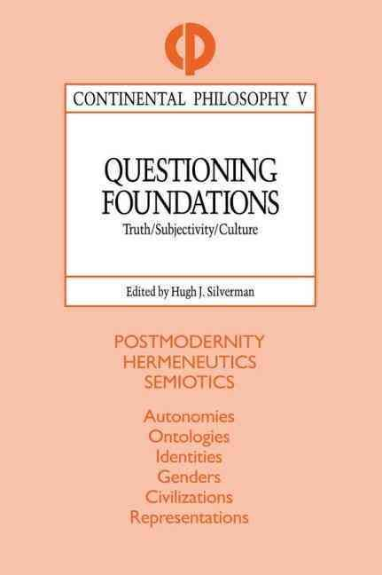 "This fifth volume of the ""Continental Philosophy"" series addresses the problem of a contemporary world devoid of foundations. It seeks to explore a post-foundational context of subverted truths, shattered identities, and fragmented cultures. #HappyReading"