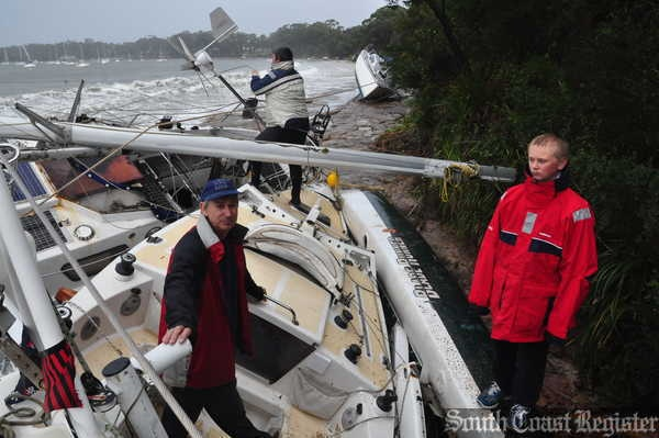 Trashed yachts in Jervis Bay #nowra #jervisbay #kiama #shoalhaven