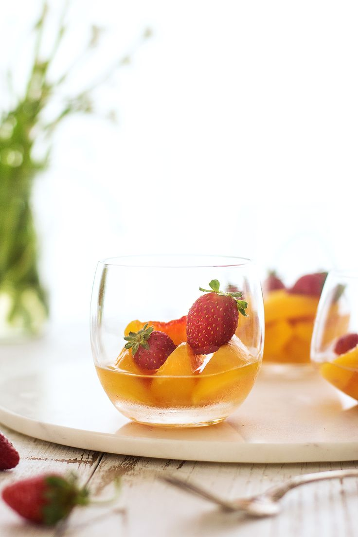 peaches in muscat wine | honestly yum