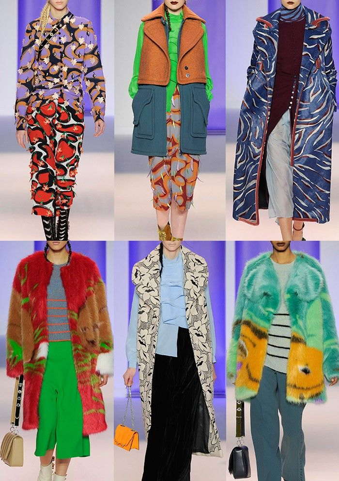 MARCO DE VINCENZO | Psychedelic Animal Prints – Brightly Illustrated Furs – Chunky Multi-coloured Weaves – Acid Brights – Monochrome Florals – Felted Mixtures – Abstract Tiger Pattern – Leafy Embellishments | MILAN | http://vogue.co.uk