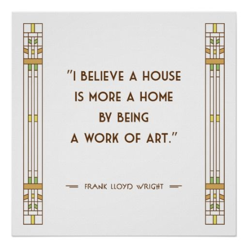 Frank Lloyd Wright Quote Poster Print #1
