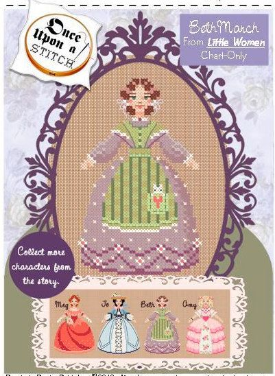 PDF counted cross stitch pattern  Little Women by thecottageneedle, $3.00