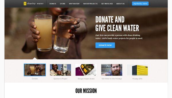30 Inspiring Non-Profit Website Designs