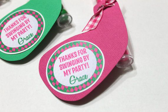 A fun party favor for your childs next golf birthday party!  This listing is for M&M,gumball or skittles treat stacks or party favors (due to warm