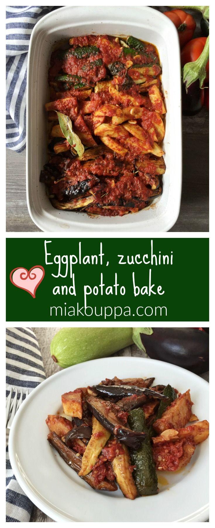 Eggplant, zucchini and potato bake #eggplant #zucchini #greek #greekrecipes