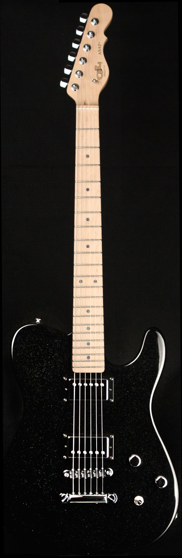 G&L Guitars ASAT®Deluxe II,  Galaxy Black over Swamp Ash