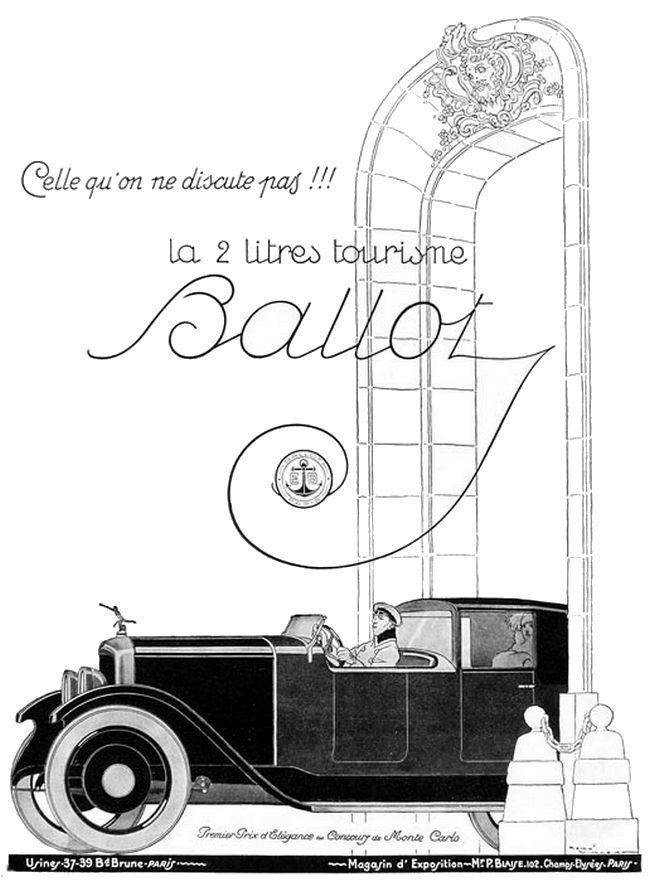 Press advertising for Ballot by René Vincent